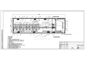 Контейнерный модуль центра обработки данных двухсекционный МЦОД BIR 80кВт