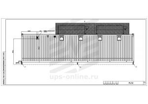 Контейнерный модуль центра обработки данных односекционный МЦОД BIR 100кВт