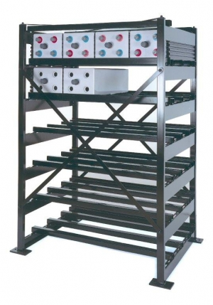 Аккумуляторный стеллаж 1-2-2E-PGL2-PGT1-652-900