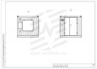 Блок-контейнер с ДГУ BIR-ЭМД-4